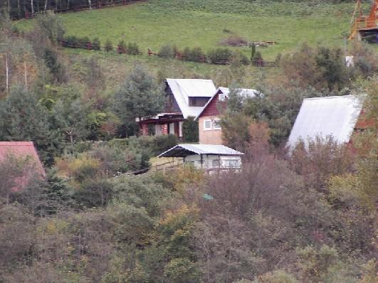 Widok na domki i otoczenie
