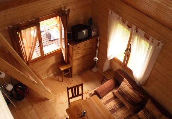 widok z antresoli, domek z mniejszym salonem