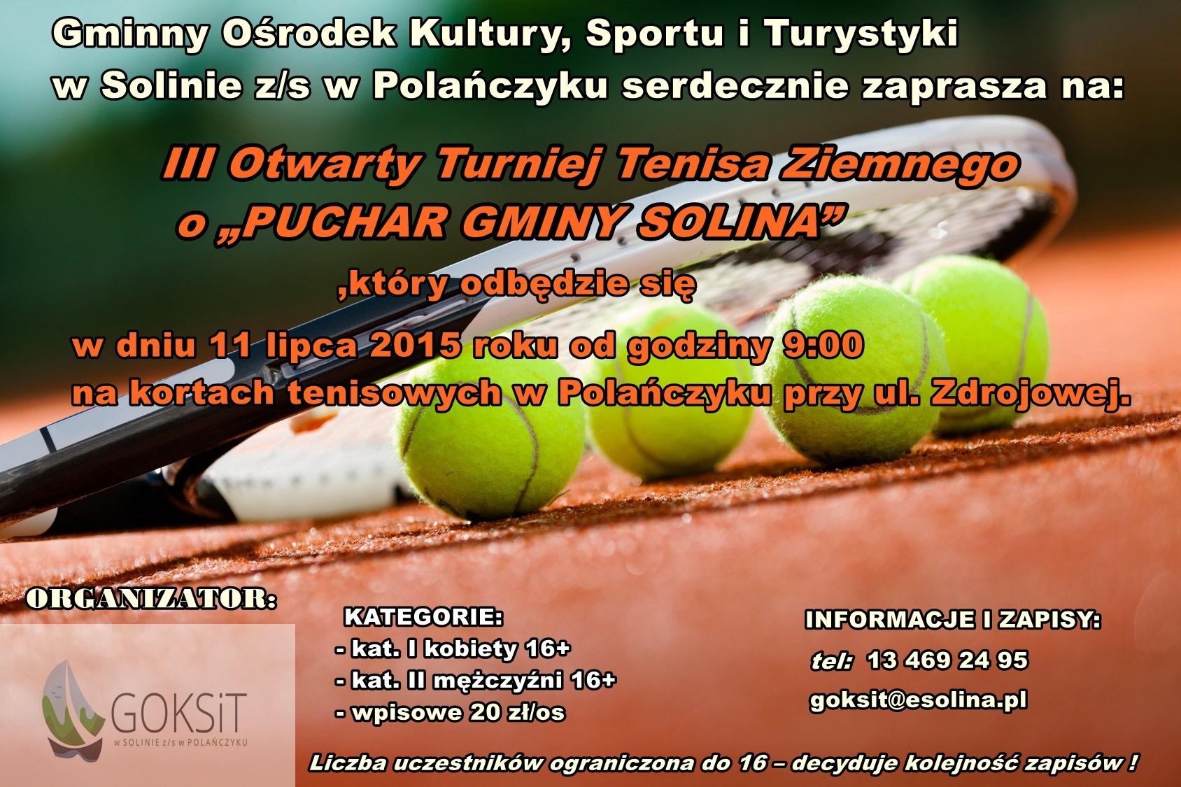 turniej tenisa polanczyk plakat3