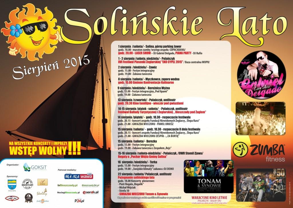 22-07-2015 Plakat A2  Solińskie Lato Sierpień -final