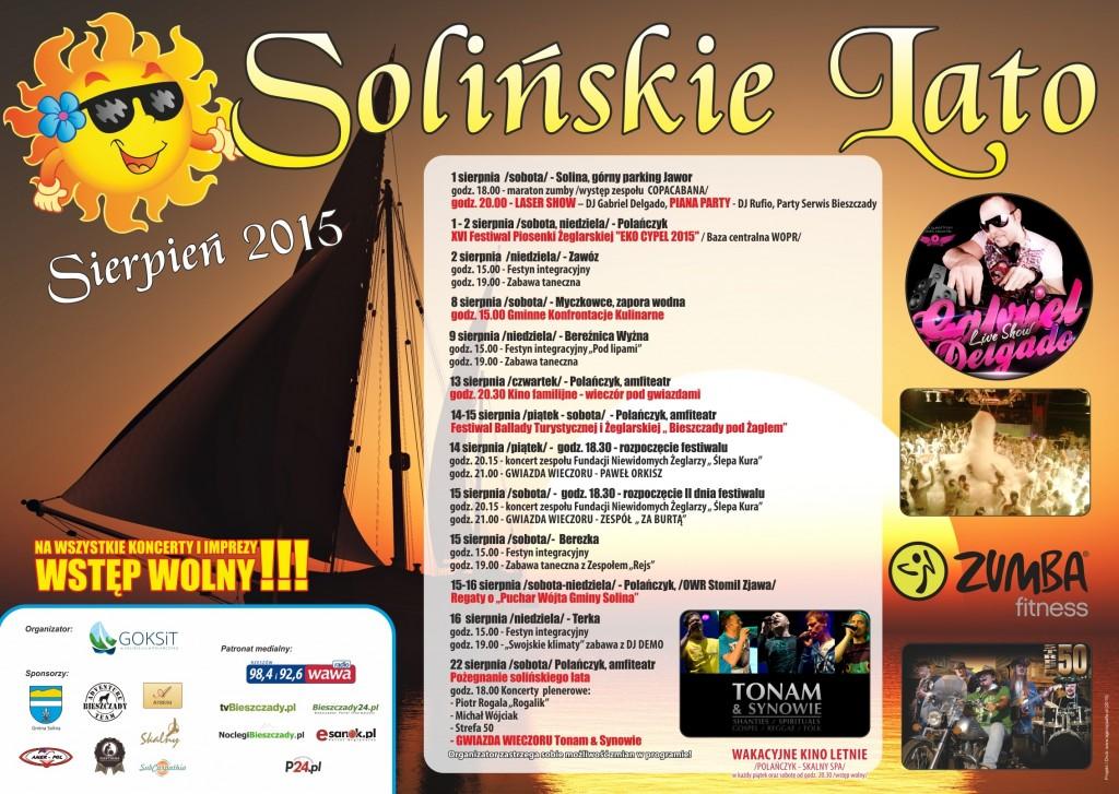 22-07-2015 Plakat A2  Solińskie Lato Sierpień - ostateczna1