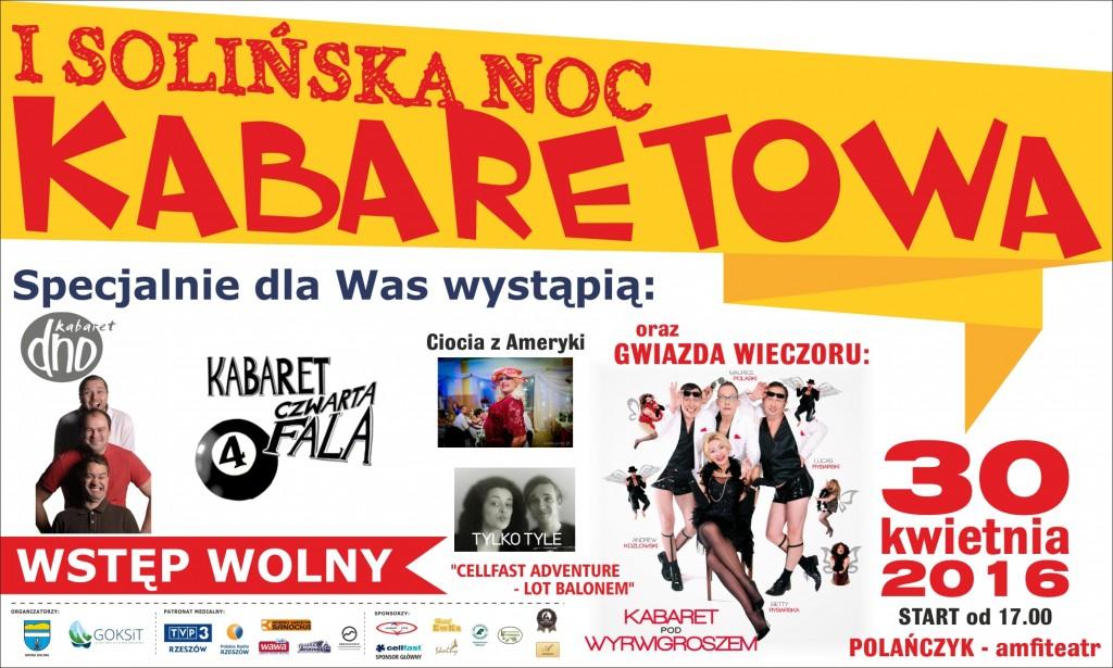 Baner Solińska Noc Kabaretowa 2016 popr