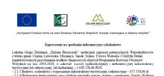 Zaproszenie na spotkania informacyjno-szkoleniowe