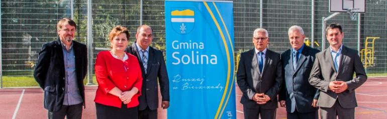 Otwarcie boiska przy Szkole Podstawowej w Bóbrce