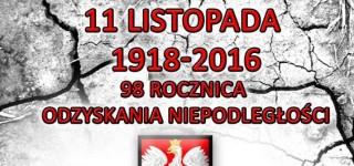 Zaproszenie na uroczyste obchody Święta Odzyskania Niepodległości