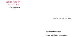 Interwencja w sprawie niskiego stanu wody w Jeziorze Solińskim