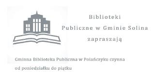 Harmonogram otwarcia Bibliotek Publicznych w Gminie Solina w 2018 r.