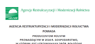 Komunikat Agencji Restrukturyzacji i Modernizacji Rolnictwa