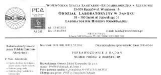 Sprawozdanie z badań Wojewódzkiej Stacji Sanitarno – Epidemiologicznej
