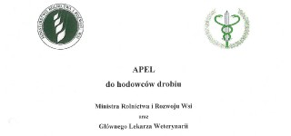 Apel Ministra Rolnictwa i Rozwoju Wsi do hodowców drobiu