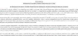 Komunikat Powiatowego Inspektora Nadzoru Budowlanego w Lesku
