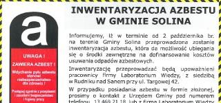 Inwentaryzacja azbestu w Gminie Solina
