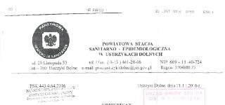 Komunikat Państwowego Powiatowego Inspektora Sanitarnego z dnia 21-11-2016