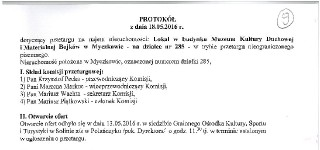 Protokół z posiedzenia komisji przetargowej