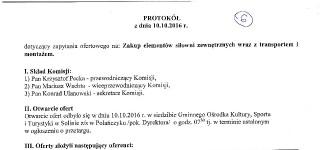 Protokół z posiedzenia komisji