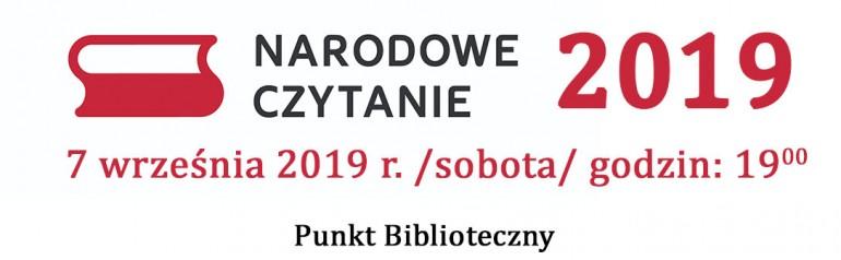 Narodowe Czytanie 2019
