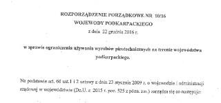 Rozporządzenie Porządkowe Wojewody Podkarpackiego