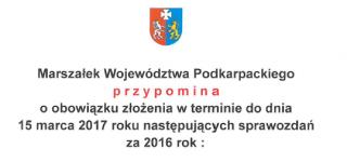 Informacja Marszałka Województwa Podkarpackiego