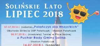Solińskie Lato 2018: Czerwiec/Lipiec
