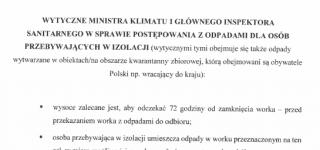 Wytyczne Ministra Klimatu I Głównego Inspektora Sanitarnego